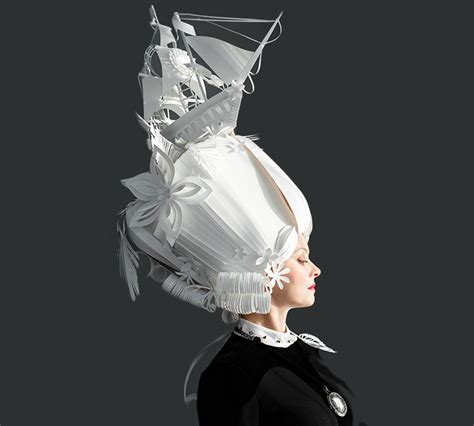 How To Make Paper Costumes - asya kozina crafts intricate baroque wigs from paper