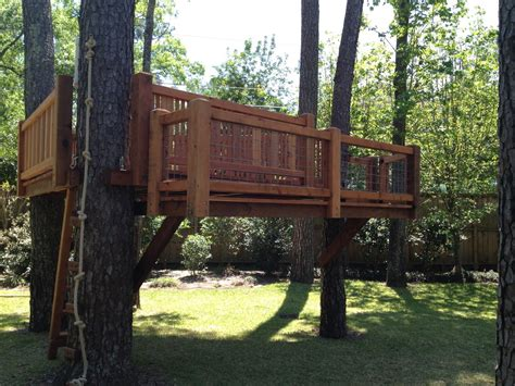 backyard treehouse designs custom treehouse treehouse decks and tree based playset