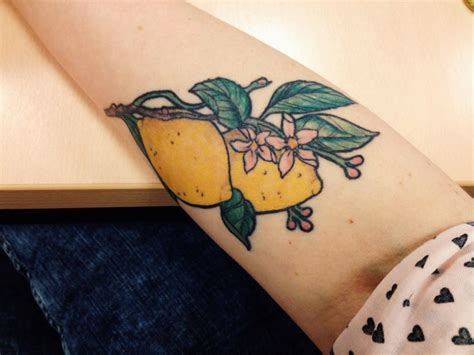 lemon tattoo when you lemons make lemonade lemontattoo