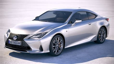 Lexus 2019 Models by 3d Model Lexus Rc 2019 Turbosquid 1390949