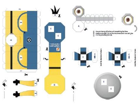 minion cutout template despicable me 2 minions paper craft template