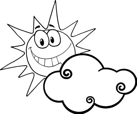 sun face coloring page happy face sun coloring page clipart best