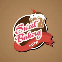 bakery logo design 3d ribbon cakes text decoration free vector in adobe illustrator ai ai
