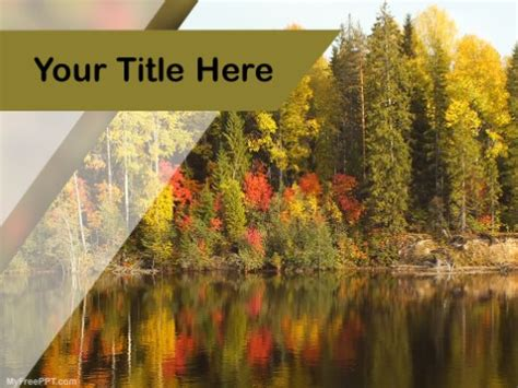 Free Water Powerpoint Templates Myfreeppt Com Free Autumn Powerpoint Templates