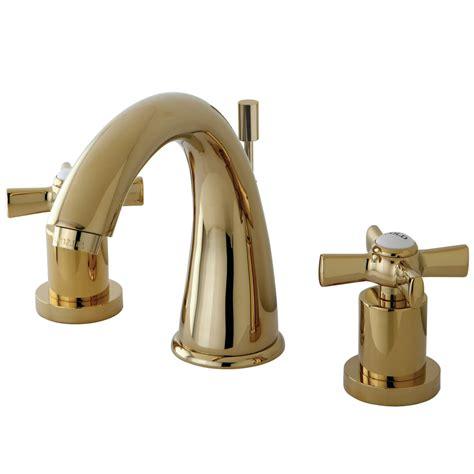 polished brass bathroom faucets widespread kingston brass ks2962zx widespread lavatory faucet