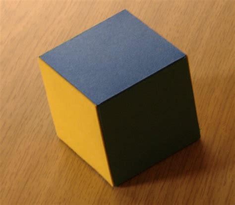 540 Card Cube Template by Card Models Of Polyhedra