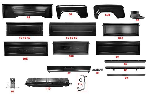 Panel Beds For Sale by 1955 1959 Gmc 2nd Series Truck Bed Panels Mill Supply Inc