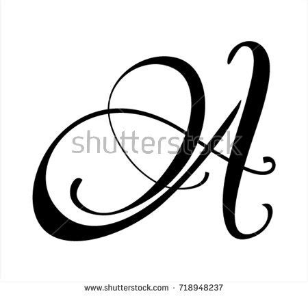 royalty free letter a script 23861926 stock photo