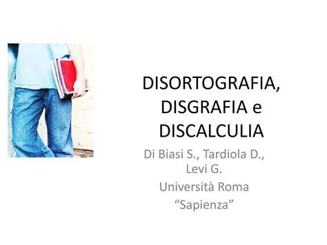 test disgrafia disortografia disgrafia e discalculia dispense