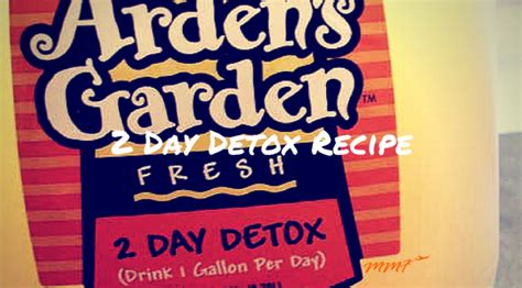 Arden S Garden Detox Recipe by Arden S Garden 2 Day Detox Recipe My Flies