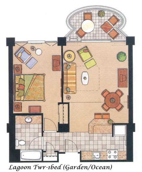 hilton hawaiian village lagoon tower floor plan lagoon 1bed