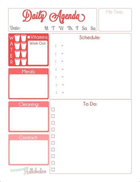 Printable Agenda Planner | free daily agenda planner printables