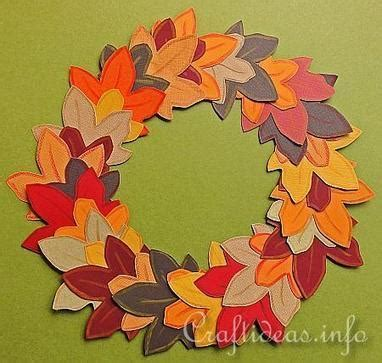 Fall Paper Crafts For - autumn crafts for paper autumn wreath felt leaves