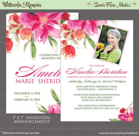 12 Sle Funeral Invitation Templates Sle Templates Free Funeral Invitation Card Template