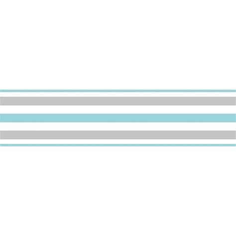 White Border Striped decor ceramica stripe self adhesive border teal