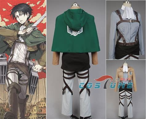 Jaket Shingeki No Kyojin New Stylle Jacket 2015 fashion types attack on titan shingeki no kyojin scouting legion rivaille cloak jacket pant
