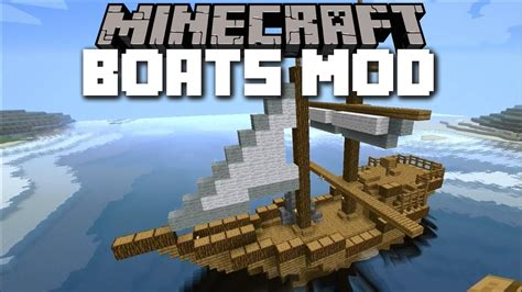 minecraft boat survival minecraft boat mod travel with your own handmade boats