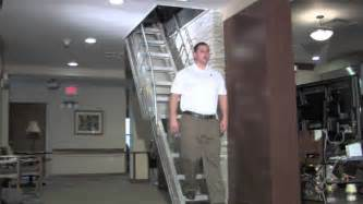 precision ladders automatic electric disappearing stairway video youtube