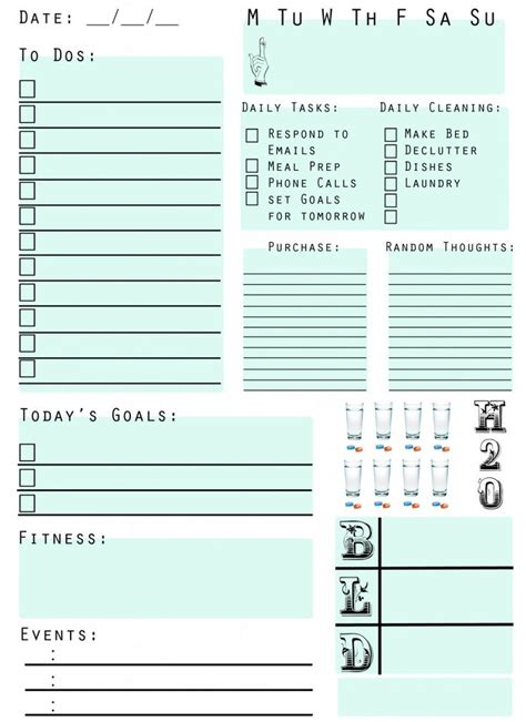 best printable daily planner 71 best daily weekly organizer insert printables images on