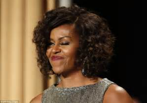 k michelle with natural curly hair michelle obama unveils curly hair at white house