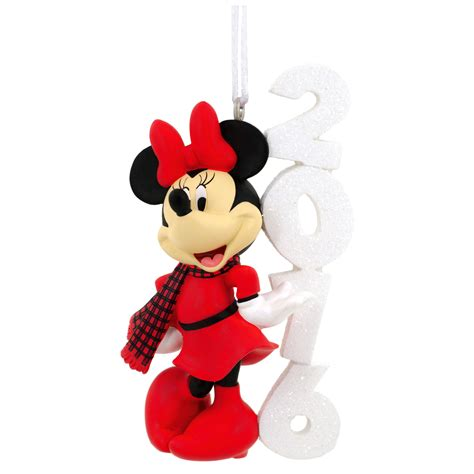 hallmark disney minnie dated 2016 christmas ornament