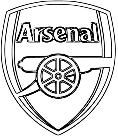 free coloring pages of arsenal football