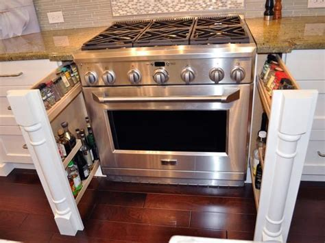 Spice Drawers Kitchen Cabinets Pull Out Spice Racks Beside Kitchen Range Home Creativity Gardens Stove And