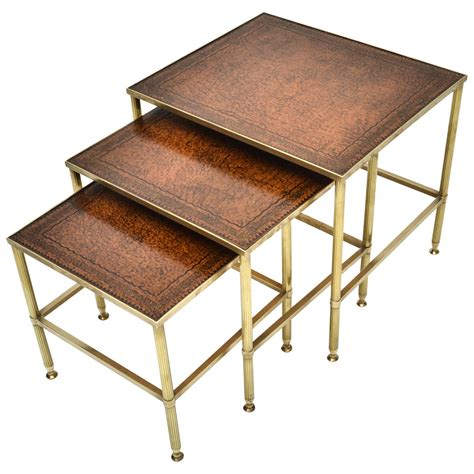 1920s brass nesting tables at 1stdibs