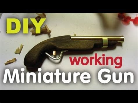How To Make A Mini Cannon Out Of Paper - diy miniature handgun