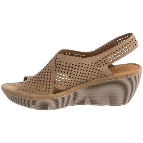 clarks wedges sandals clarks clarene award wedge sandals for save 53