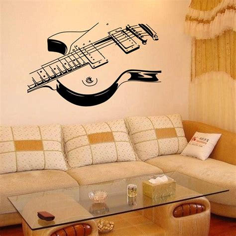 musical home decor guitar removable vinyl decal wall sticker mural room home decor ebay