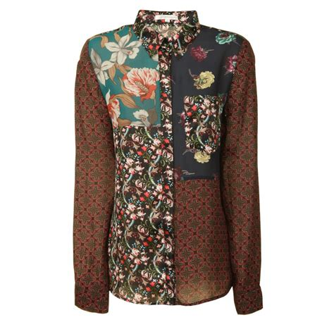 Patchwork Shirts - glamorous patchwork blouse multi glamorous from