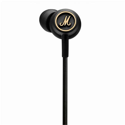 Handset Marshall Mode Earphones marshall mode eq black brass headphones for iphone ipod mp3 players and mobile phones