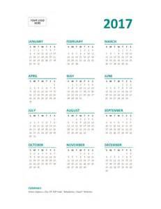 Calendar 2018 Year At A Glance 2017 Year At A Glance Calendar Sun Sat Office Templates