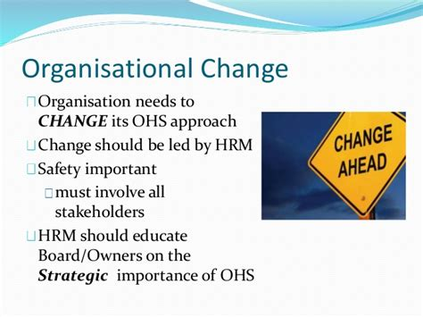 Importance Of Mba In Today 39 by Ohs In The Workplace Mba 423 Human Resource Management