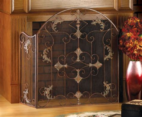 Wood Fireplace Screens by Fireplace Screen And Spark Guard On Custom Fireplace
