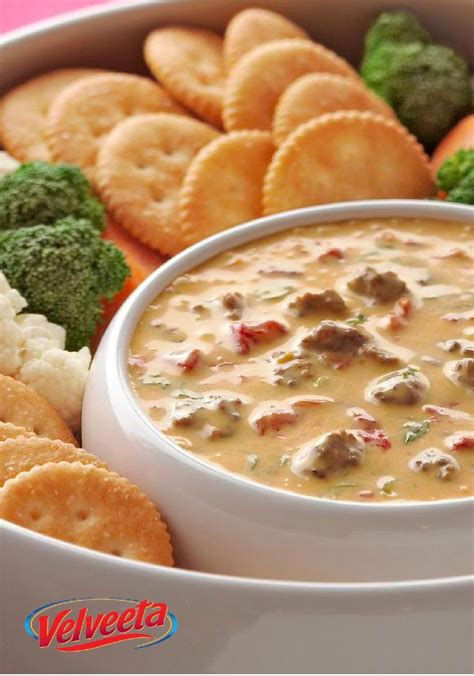 velveeta spciy cheeseburger dip there may be a game on tv but you and your spicy cheeseburger