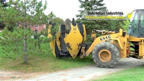Tree Spandek dutchman 80 quot spade digging trees at creek golf club