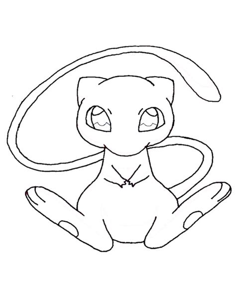 mew pokemon coloring pages az coloring pages