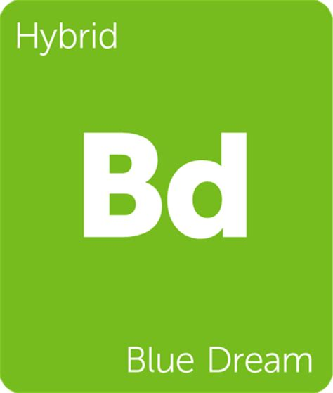 Weed Periodic Table Blue Dream Cannabis Strain Information Leafly
