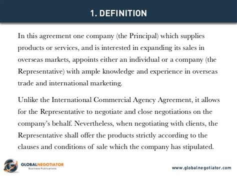 sales and marketing agreement template international sales representative agreement template