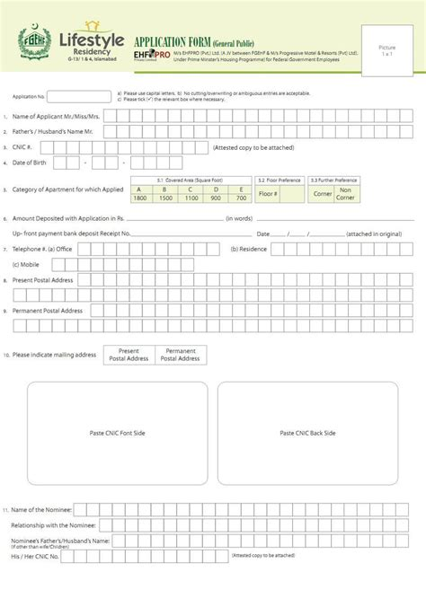 Government Apartment Application Lifestyle Residency Islamabad Application Form Real