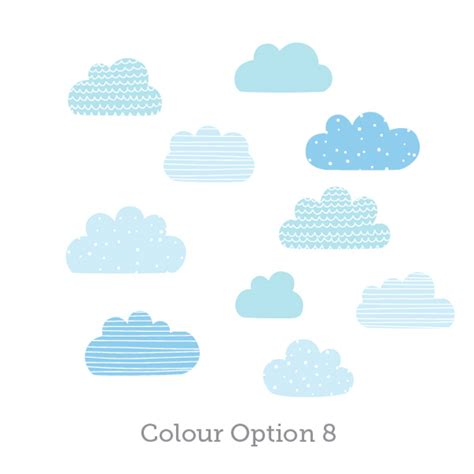 cloud wall stickers happy cloud wall decals for nursery wall