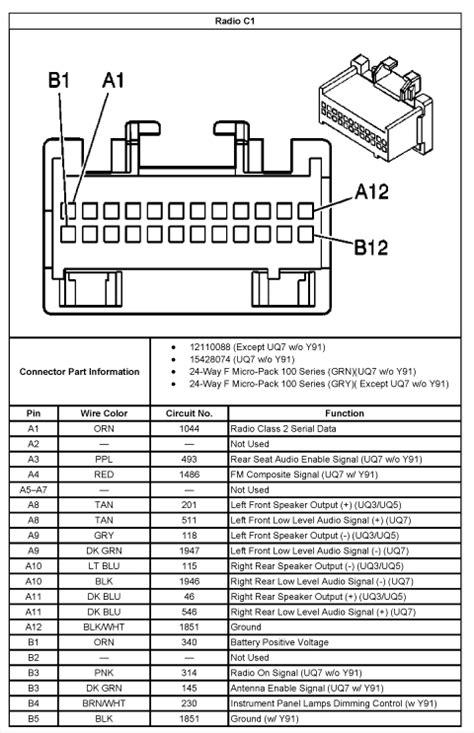 07 chevy silverado radio wiring diagram chevrolet