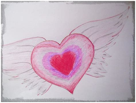 imagenes a lapiz de corazones con alas diferentes dibujos de corazones chidos a lapiz dibujos