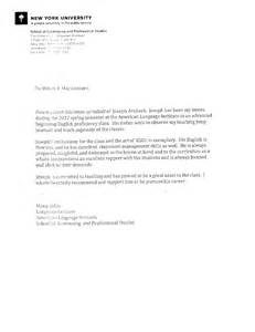 Recommendation Letter York Recommendations And Evaluations Joseph Arxhoek E Portfolio