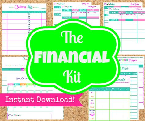 financial planner finance printables the by organizedwhimsy