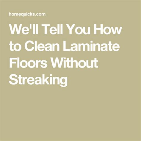 We'll Tell You How to Clean Laminate Floors Without