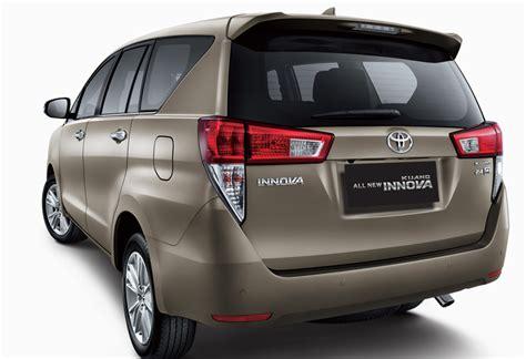 Toyota Innova New Car Price New Model Toyota Innova Rear Angle Carblogindia
