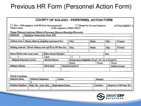 hr forms templates solano county study automated peoplesoft hr forms paf